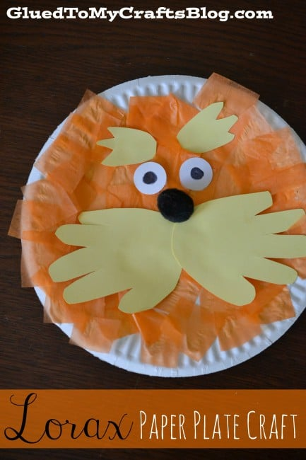 Lorax Paper Plate Craft Idea for Kids | Pretty My Party