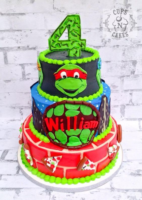 Awesome Ninja Turtle Birthday Cake
