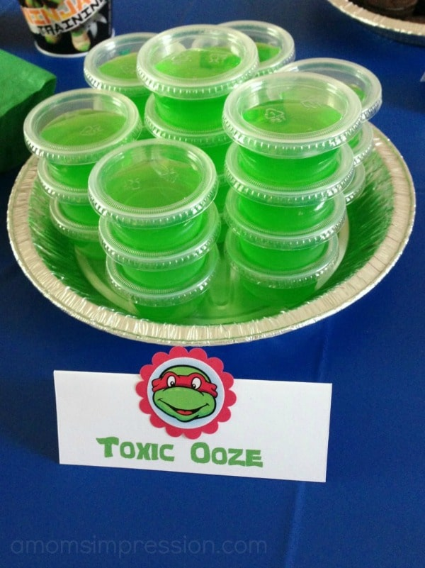 Ninja Turtle Party Jello Treats