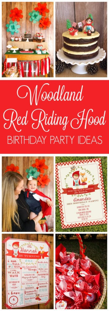 Red Riding Hood Picnic Birthday Party Ideas on Pretty My Party