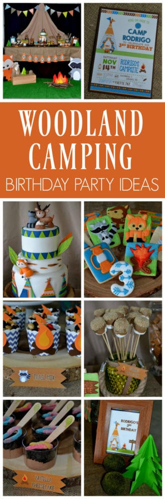 Woodland Camping Birthday Party | Pretty My Party