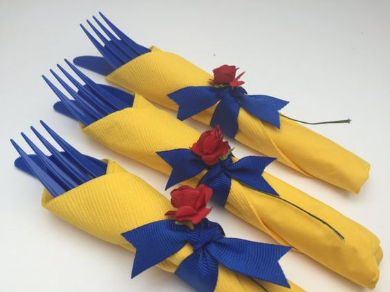 Beauty and the Beast Party Utensils