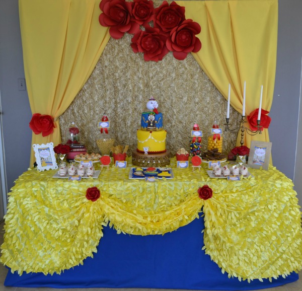 Beauty and the Beast Dessert Table Idea