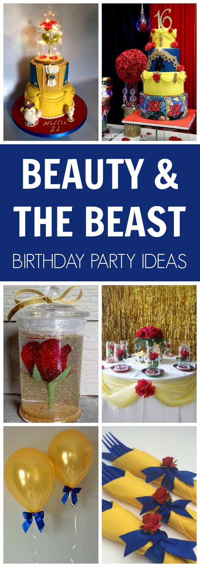 Beauty and the Beast Party Ideas - Pretty My Party