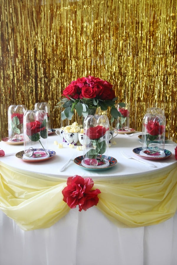 Beauty and the Beast Party Table Idea