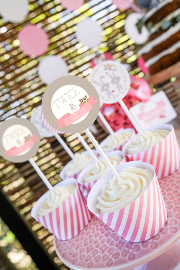 Twin Bunnies Baby Shower Pretty My Party Party Ideas