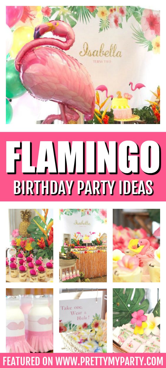 Hawaiian Flamingo Birthday on Pretty My Party