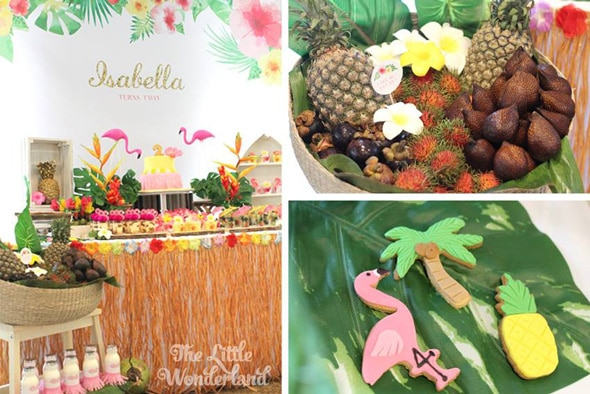 Hawaiian Flamingo Party Food