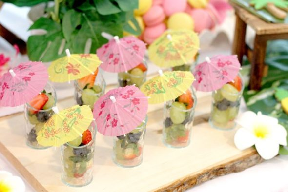 Tropical Hawaiian Party Fruit Cups