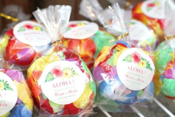 Tropical Aloha Party Favor tags