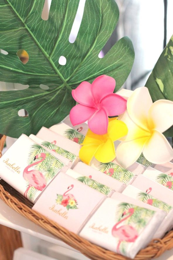 Tropical Hawaiian Flamingo Party Favors