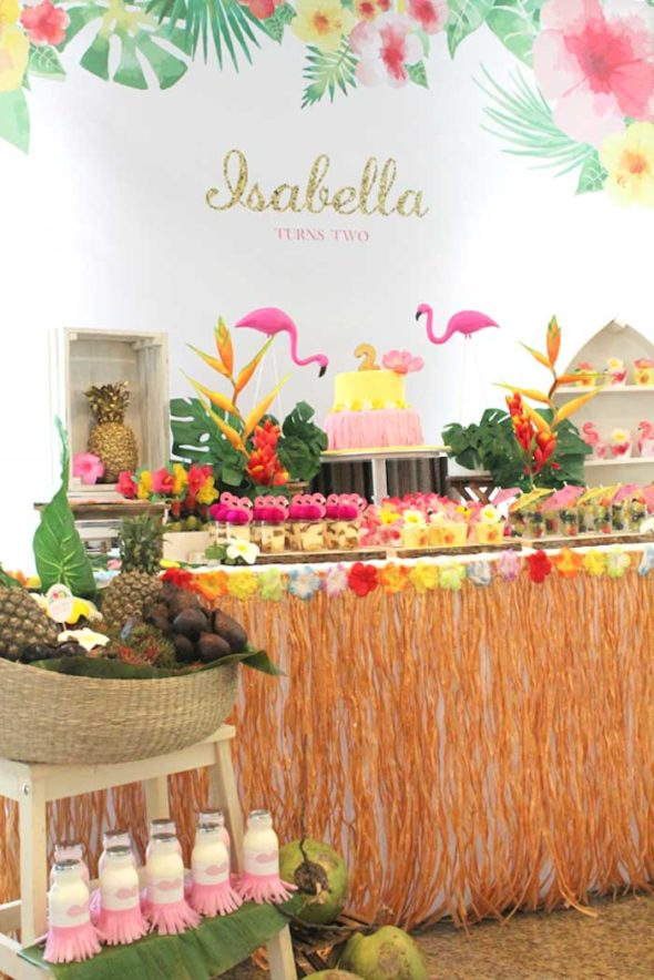 Tropical Hawaiian Party Backdrop