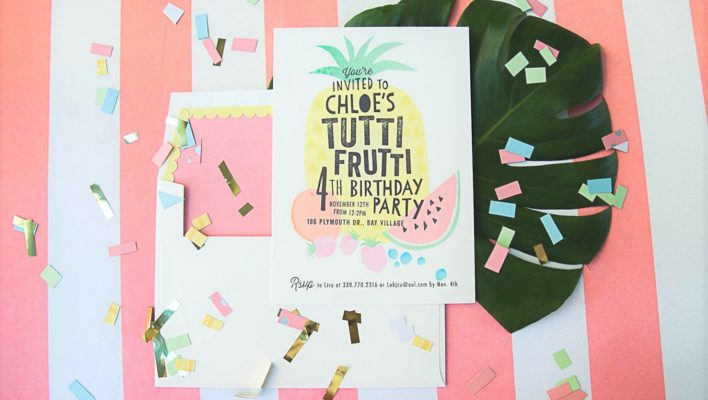Tropical Tutti Frutti Birthday Bash