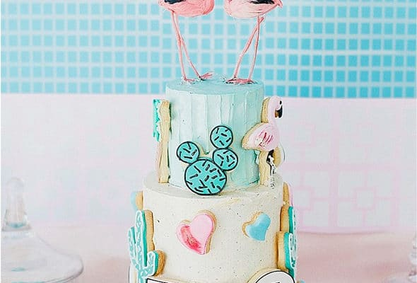 Palm Springs Pool Themed Birthday Party