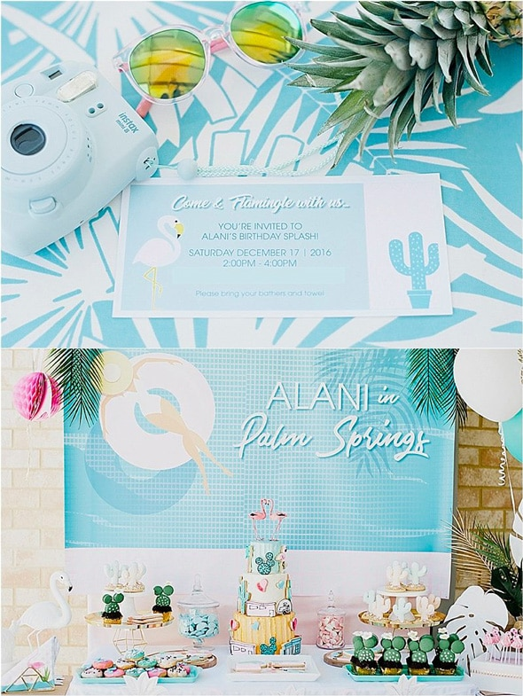 Palm Springs Pool Themed Birthday Party | Pretty My Party