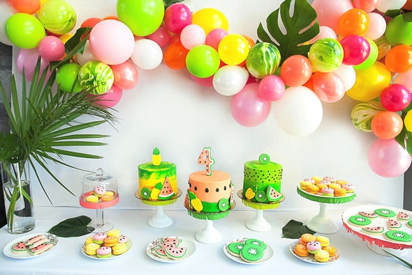Tropical Tutti Frutti Birthday Bash | Pretty My Party