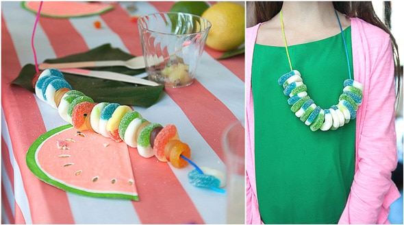 Tropical Tutti Frutti Candy Necklaces
