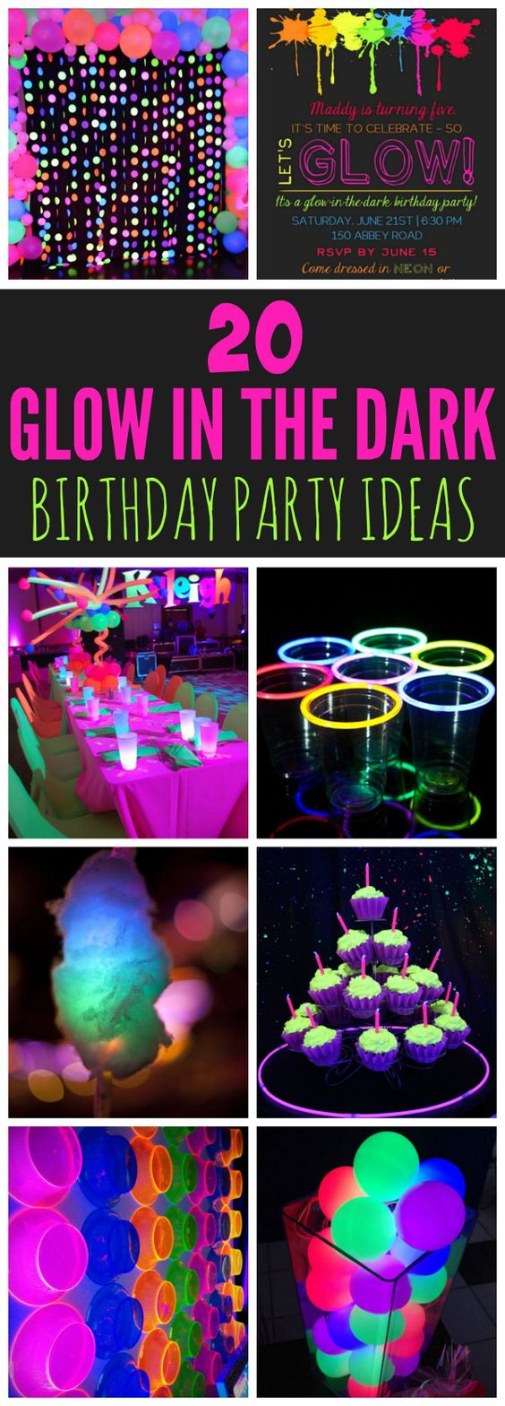 20 epic glow in the dark party ideas - pretty my party - party ideas