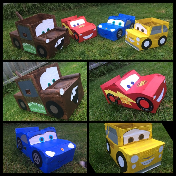 DIY Disney Cardboard Cars Party Idea | Pretty My Party