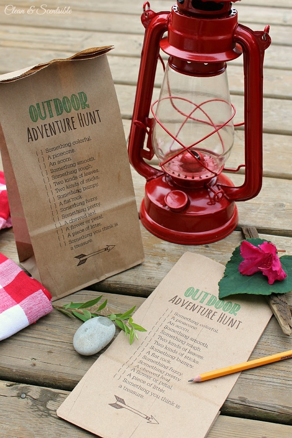 Outdoor Scavenger Hunt Printables | Camping Party Ideas | Pretty My Party