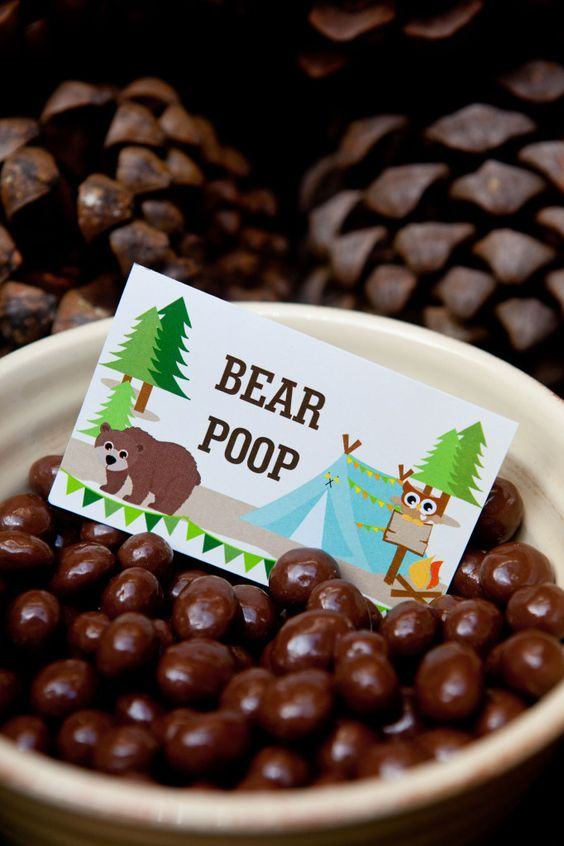 Bear Poop Camping Party Ideas | Pretty My Party