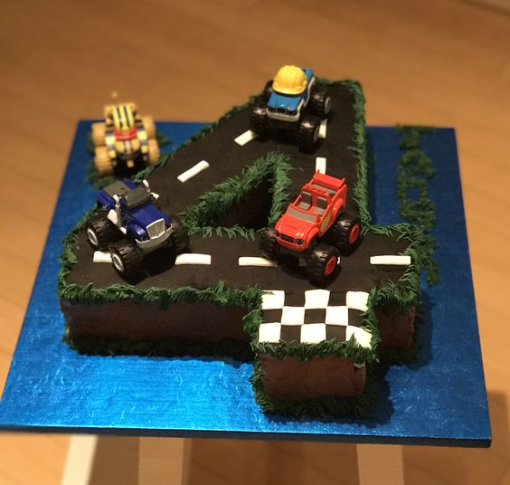 Blaze and the Monster Machines Number Cake