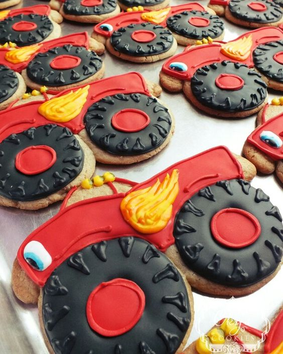 Blaze Cookies | Blaze and the Monster Machines Party Ideas