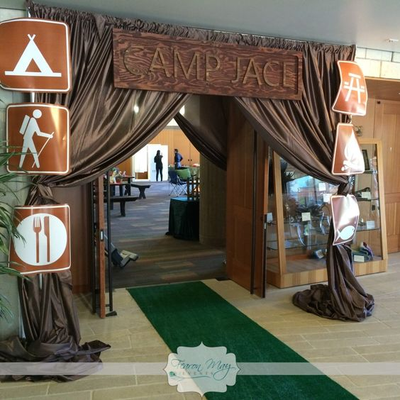 Camping Party Entrance Decor | Pretty My Party