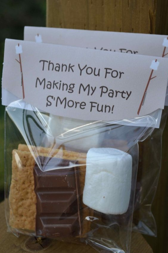 S'mores Camping Party Favors | Camping Party Ideas | Pretty My Party