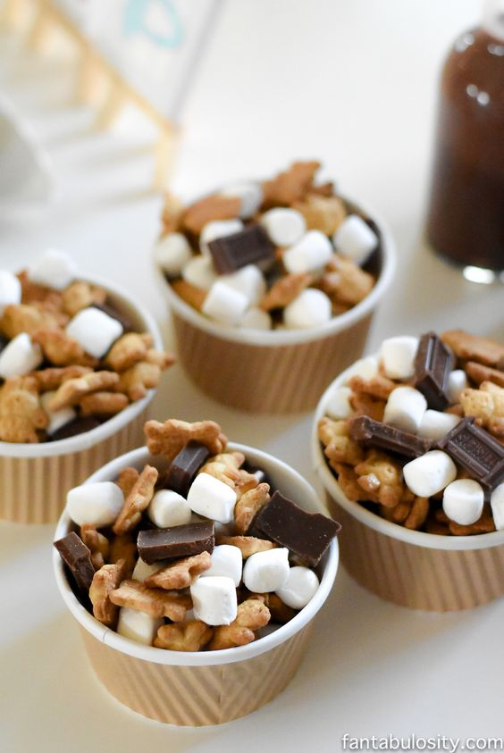 Camping Party Treat Mix | Camping Party Ideas | Pretty My Party