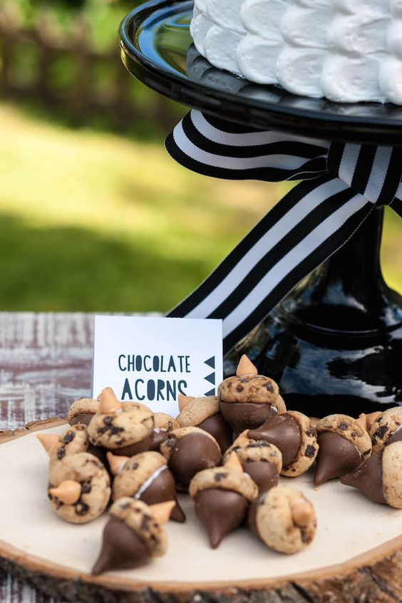 Chocolate Acorns | Camping Party Ideas | Pretty My Party
