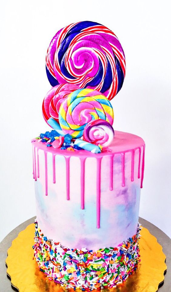 Colorful Candy Sprinkle Cake   Freak Cake Trend   Pretty My Party
