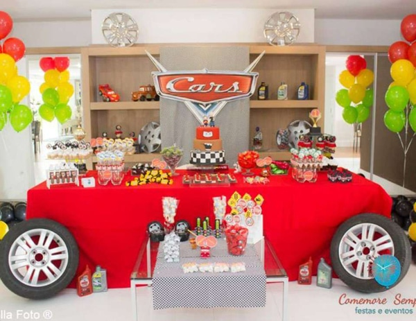 Disney Cars Party Dessert Table Idea