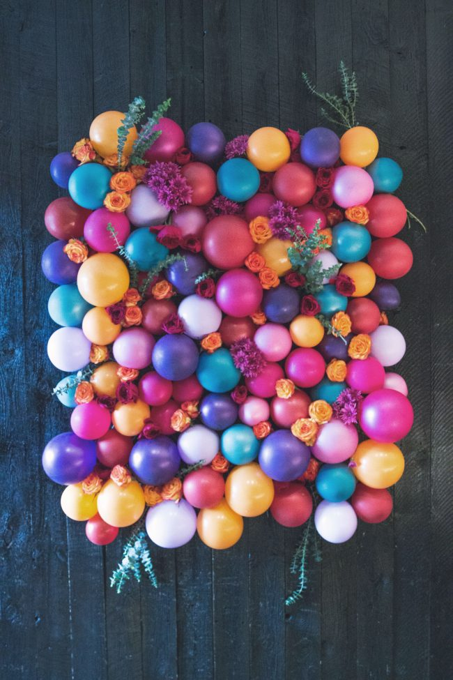 DIY Balloon Wall Backdrop | DIY Balloon Ideas | Pretty My Party