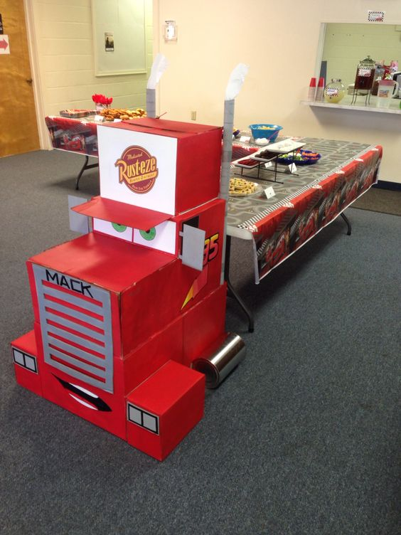 Disney Cars Truck Table Idea