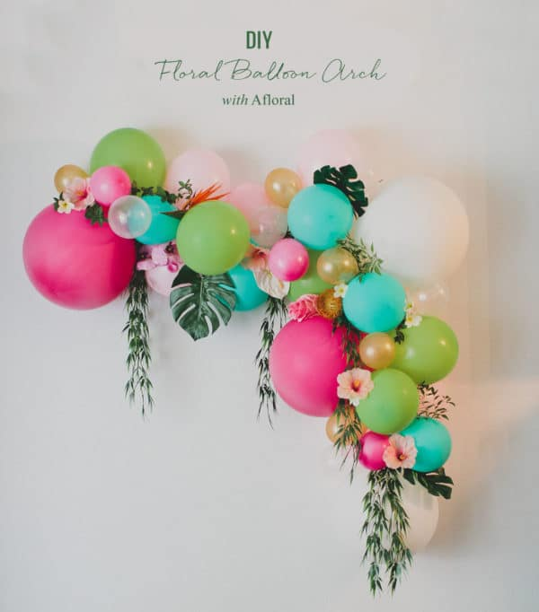 DIY Floral Balloon Arch for Moana Birthday Party
