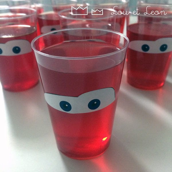 Lightning McQueen Jello Cups