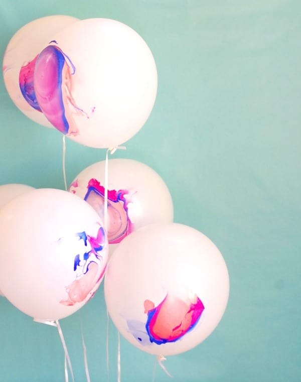 DIY Marble Balloons | DIY Balloon Party Ideas | Pretty My Party
