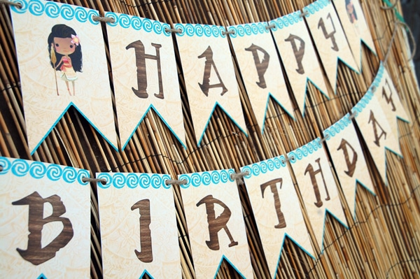 Free Disney Moana Birthday Party Printables | Pretty My Party