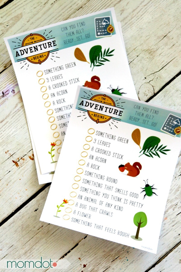 Free Printable Scavenger Hunt for Kids | Camping Party Ideas | Pretty My Party