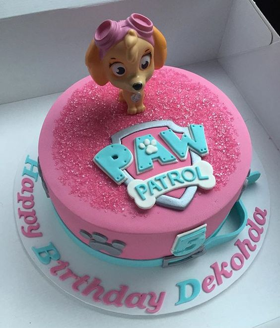 Cake  Puppy Decor