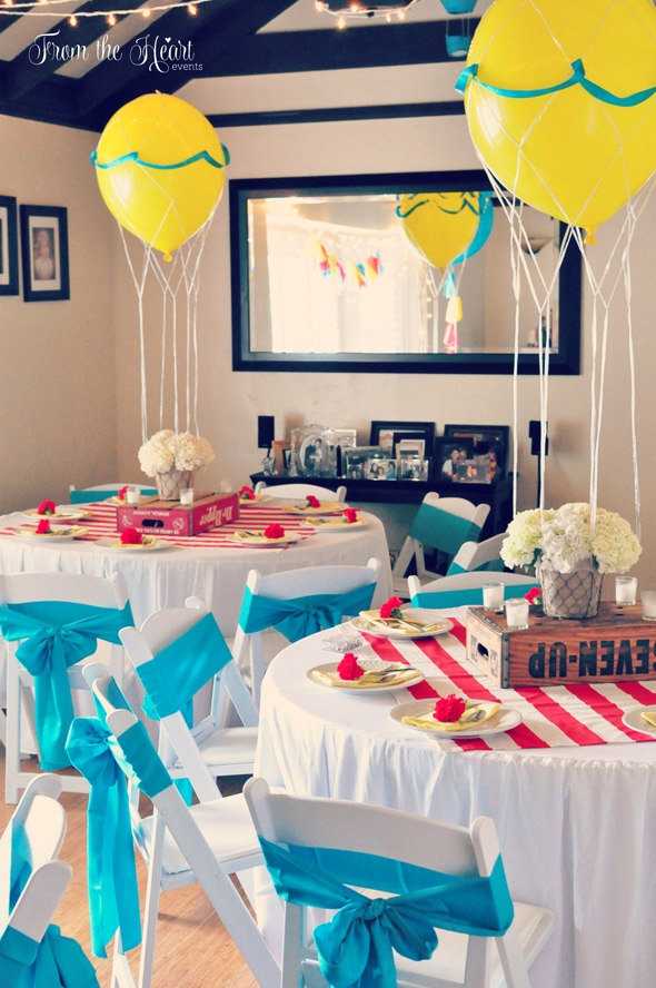 Hot Air Balloon Baby Shower | Pretty My Party