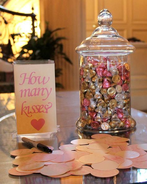 How Many Kisses - Bridal Shower Games