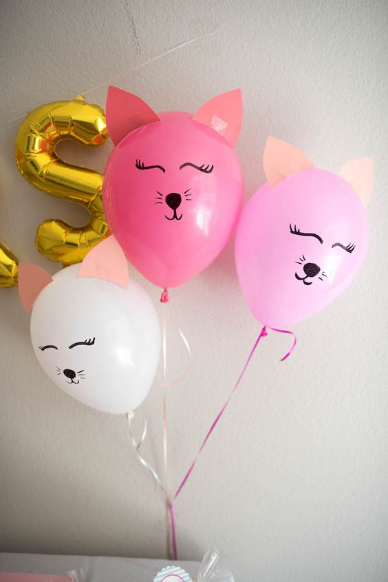 DIY Kitty Cat Balloons | DIY Balloon Ideas | Pretty My Party