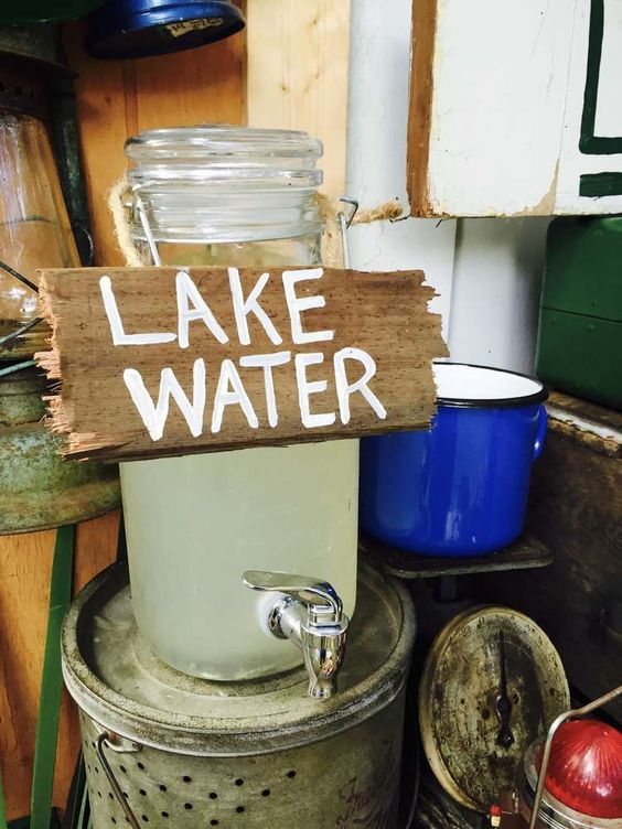 """""""Lake Water"""" Beverage Station 