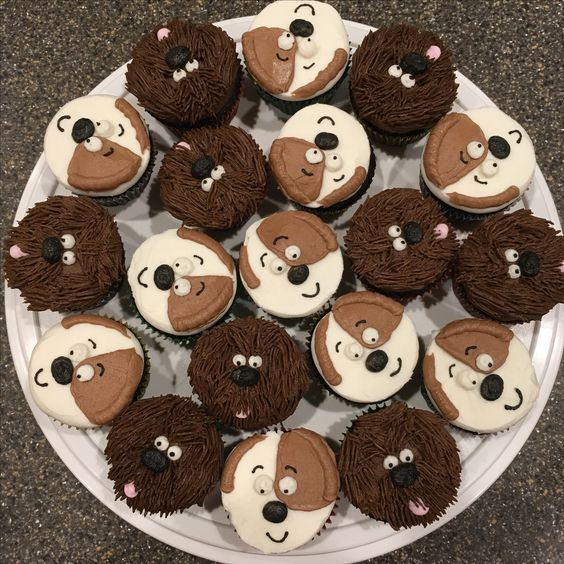 Puppy Themed Birthday Party Cake