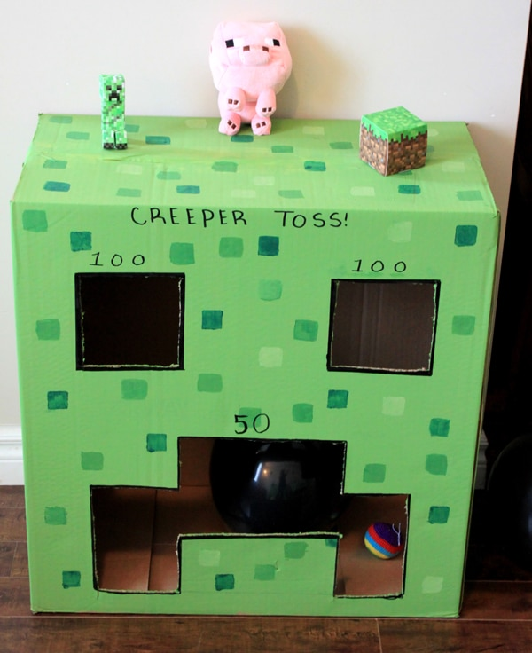 Minecraft Creeper Toss Game | Minecraft Party Ideas