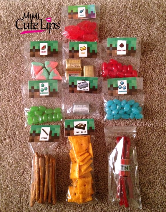 Minecraft Party Favor Ideas | Minecraft Party Ideas