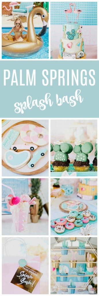 Palm Springs Pool Themed Birthday Party on Pretty My Party