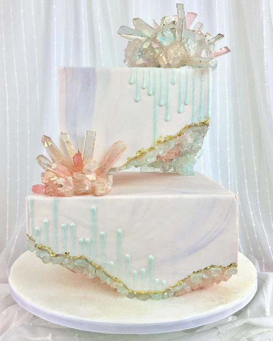15 Crystal Geode Birthday Cakes Pretty My Party Party